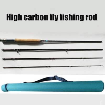 Carbon fly fishing rod fly pole fishing rod rever fishing pole late fly fishing rod