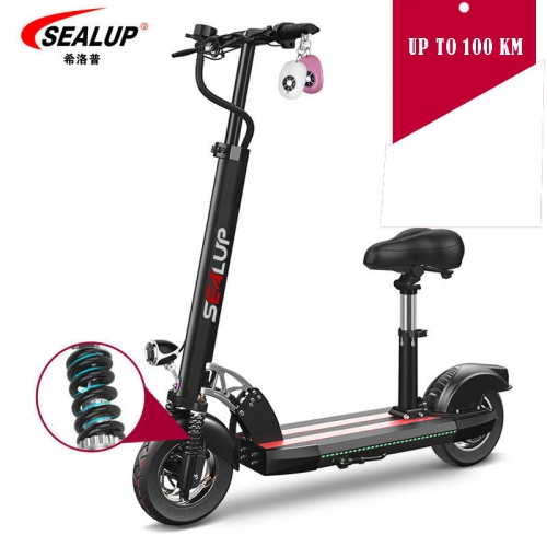 Smart Electric Scooter Foldable 100 Km Mileage With Seat For