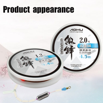 Seiko hand tied standard wire diameter hand finished space beans fishing line group silicone lines