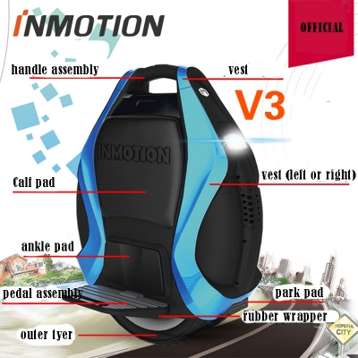 Inmotion V3 Hoverboard Parts Charger, Pedal, Inner Tube